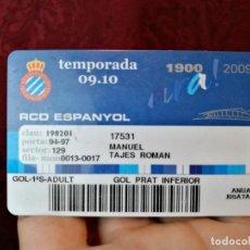 Coleccionismo deportivo: CARNET SOCIO TEMPORADA 2009 ...R.C.D. ESPANYOL.. Lote 123371331