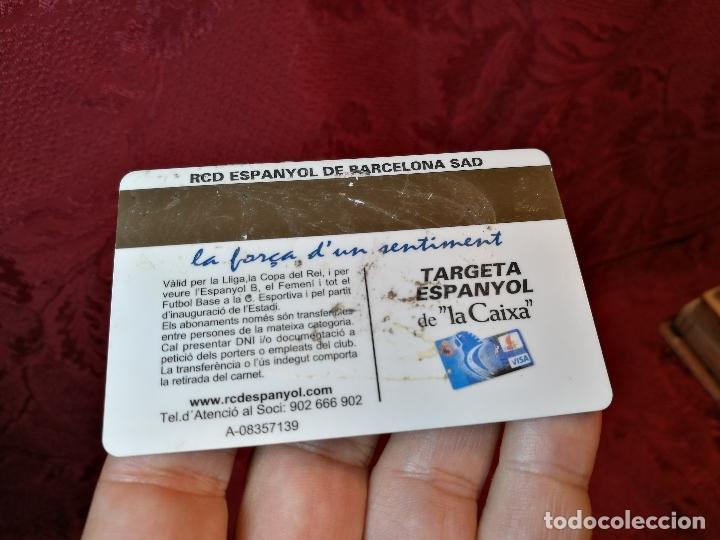 Coleccionismo deportivo: CARNET SOCIO TEMPORADA 2009 ...R.C.D. ESPANYOL. - Foto 2 - 123371331