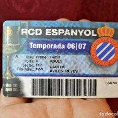 Coleccionismo deportivo: CARNET SOCIO TEMPORADA 2006-07...R.C.D. ESPANYOL.. Lote 123371723