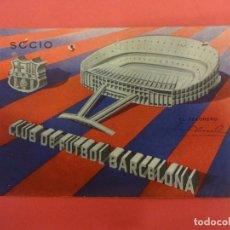 Coleccionismo deportivo: CF BARCELONA. CARNET SOCIO 1ER TRIMESTRE 1963. Lote 124538495
