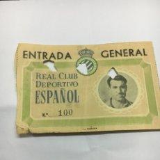 Coleccionismo deportivo: ENTRADA R.C.D. ESPAÑOL. Lote 124879555