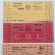 Coleccionismo deportivo: LOTE 4 CARNET SOCIO SOCIEDAD DEPORTIVA LAREDO /CLUB DEPORTIVO /FÚTBOL CANTABRIA/ 1983-1985 1985-1986. Lote 128731774