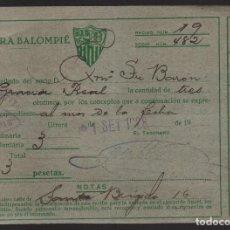 Coleccionismo deportivo: CARNET ,UTRERA BALOMPIE, SOCIO Nº 482, 1 SETIEMBRE 1928, VER FOTO. Lote 134892822