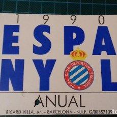 Coleccionismo deportivo: CARNET DE SOCIO DEL ESPANYOL DE BARCELONA. 1990.. Lote 135005798