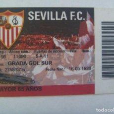 Coleccionismo deportivo: CARNET DE SOCIO DEL SEVILLA F.C. , TEMPORADA 1997 - 98. GRADA GOL SUR . MAYOR DE 65 AÑOS. Lote 135532590