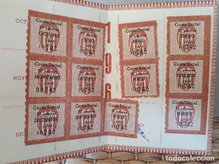 Coleccionismo deportivo: VCF Carné Pase Socio 1968 Valencia Club de Fútbol. Completo con todos los sellos. - Foto 2 - 134814066