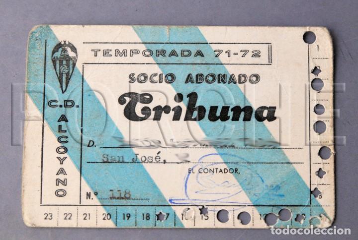 C.D. ALCOYANO CARNET DE SOCIO ABONADO TRIBUNA. TEMPORADA 71-72 (CLUB DEPORTIVO ALCOYANO DE FÚTBOL) segunda mano