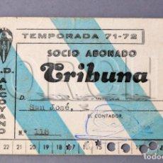 Coleccionismo deportivo: C.D. ALCOYANO CARNET DE SOCIO ABONADO TRIBUNA. TEMPORADA 71-72 (CLUB DEPORTIVO ALCOYANO DE FÚTBOL). Lote 137125698