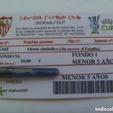 Coleccionismo deportivo: CARNET DE SOCIO DEL SEVILLA F.C. , TEMPORADA 2006 / 07. NIÑOS.. Lote 137780226