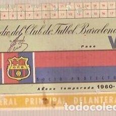 Coleccionismo deportivo: CARNET DE FUTBOL CLUB DE FUTBOL BARCELONA AÑO 1960 61. Lote 137992230