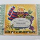 Coleccionismo deportivo: FC BARCELONA CARNET ANUAL SOCIO SOCI 1957 BARÇA.. Lote 139326530