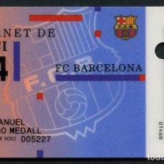 Coleccionismo deportivo: CARNET DE SOCIO, ANUAL, FÚTBOL CLUB BARCELONA, 1994. Lote 140781550