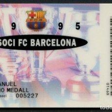 Coleccionismo deportivo: CARNET DE SOCIO, ANUAL, FÚTBOL CLUB BARCELONA, 1995. Lote 140781974