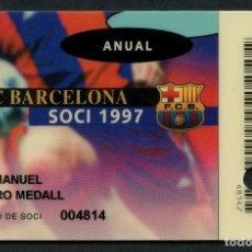 Coleccionismo deportivo: CARNET DE SOCIO, ANUAL, FÚTBOL CLUB BARCELONA, 1997. Lote 140782874