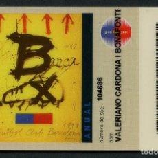 Coleccionismo deportivo: CARNET DE SOCIO, ANUAL, FÚTBOL CLUB BARCELONA, 1999. Lote 140789046