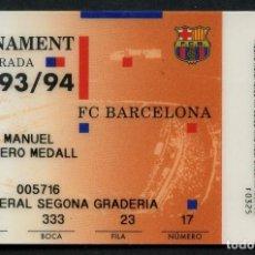 Coleccionismo deportivo: ABONO DE SOCIO, FÚTBOL CLUB BARCELONA, TEMPORADA 1993, 1994. Lote 140819218