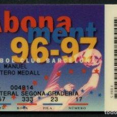 Coleccionismo deportivo: ABONO DE SOCIO, FÚTBOL CLUB BARCELONA, TEMPORADA 1996, 1997. Lote 140872830