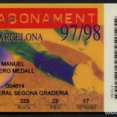 Coleccionismo deportivo: ABONO DE SOCIO, FÚTBOL CLUB BARCELONA, TEMPORADA 1997, 1998. Lote 140873390