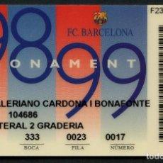 Coleccionismo deportivo: ABONO DE SOCIO, FÚTBOL CLUB BARCELONA, TEMPORADA 1998, 1999. Lote 140873810