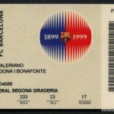 Coleccionismo deportivo: ABONO DE SOCIO, FÚTBOL CLUB BARCELONA, TEMPORADA 1999, 2000. Lote 140874254