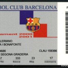 Coleccionismo deportivo: ABONO DE SOCIO, FÚTBOL CLUB BARCELONA, TEMPORADA 2000, 2001. Lote 140874690