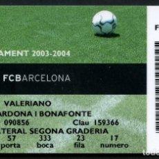 Coleccionismo deportivo: ABONO DE SOCIO, FÚTBOL CLUB BARCELONA, TEMPORADA 2003, 2004. Lote 140876302