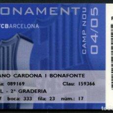 Coleccionismo deportivo: ABONO DE SOCIO, FÚTBOL CLUB BARCELONA, TEMPORADA 2004, 2005. Lote 140876634