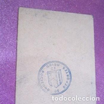 Coleccionismo deportivo: CLUB DE FUTBOL ASTURIANO GRISU CARNET DE SOCIO AÑO 1956 - Foto 4 - 141792574