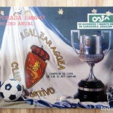 Coleccionismo deportivo: ABONO REAL ZARAGOZA LA ROMAREDA TEMPORADA 1986-87. Lote 143074918