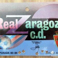 Coleccionismo deportivo: ABONO REAL ZARAGOZA LA ROMAREDA TEMPORADA 1983-84. Lote 143075066