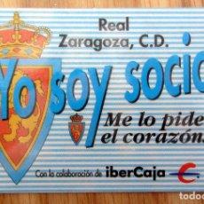 Coleccionismo deportivo: ABONO REAL ZARAGOZA LA ROMAREDA TEMPORADA 1991-92. Lote 143075290