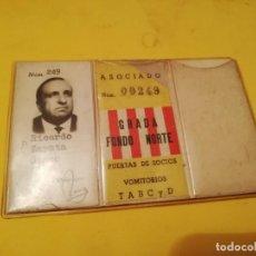 Coleccionismo deportivo: CARNET ATLÉTICO MADRID FUTBOL. Lote 143319942