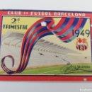 Coleccionismo deportivo: CARNET FC BARCELONA CF SEGUNDO 2 TRIMESTRE DE 1949 SOCIO BARÇA FUTBOL. Lote 143578426