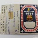 Coleccionismo deportivo: CARNET SOCIO FC BARCELONA AÑO 1931 PRIMER 1 TRIMESTRE BARÇA ANTIGUO ABONO ABONAMENT SOCI. Lote 143594464