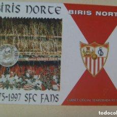 Coleccionismo deportivo: CARNET DE SOCIO DE ULTRAS DEL SEVILLA F.C. , BIRIS NORTE , 1975 - 1997. Lote 146735942