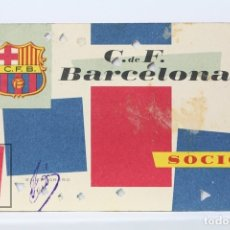 Coleccionismo deportivo: CARNET DE SOCIO - C.F. BARCELONA 1960 - ABONO ANUAL 1960 - BARÇA. Lote 147317400