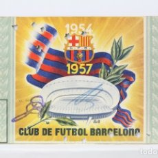 Coleccionismo deportivo: CARNET DE SOCIO - C.F. BARCELONA 1957 - ABONO ANUAL 1957 - BARÇA. Lote 147317601