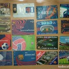 Coleccionismo deportivo: LOTE 16 CARNET FUTBOL CLUB BARCELONA BARÇA 1974-75-76-77-78-79-82-84-85-87-88-89-90-91-92-93. ANUAL. Lote 147909522