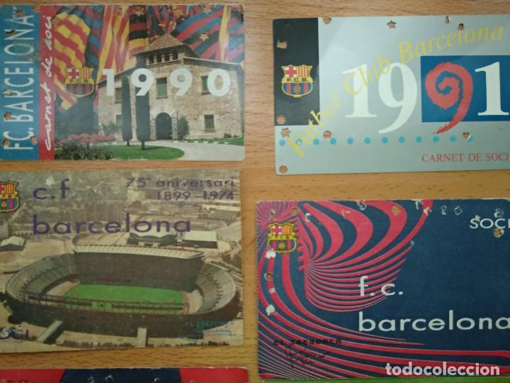 Coleccionismo deportivo: Lote 16 Carnet Futbol Club Barcelona Barça 1974-75-76-77-78-79-82-84-85-87-88-89-90-91-92-93. Anual - Foto 2 - 147909522