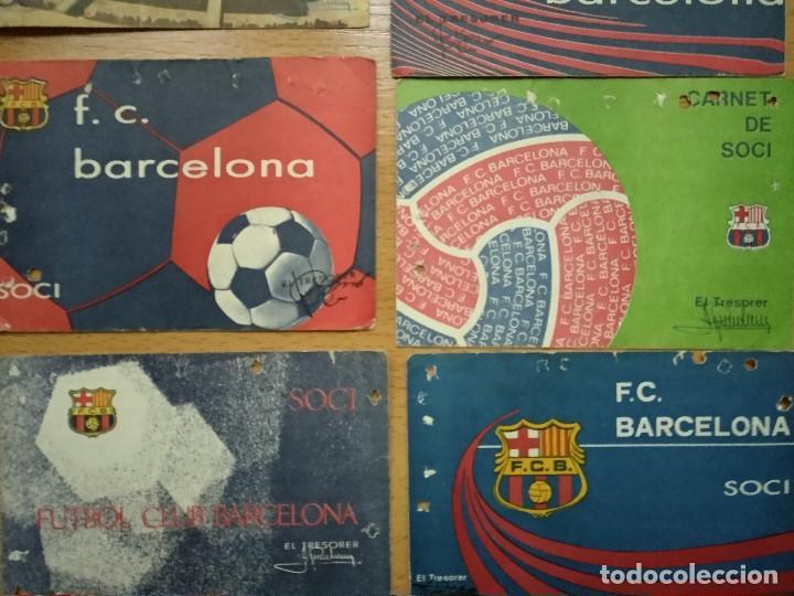 Coleccionismo deportivo: Lote 16 Carnet Futbol Club Barcelona Barça 1974-75-76-77-78-79-82-84-85-87-88-89-90-91-92-93. Anual - Foto 3 - 147909522
