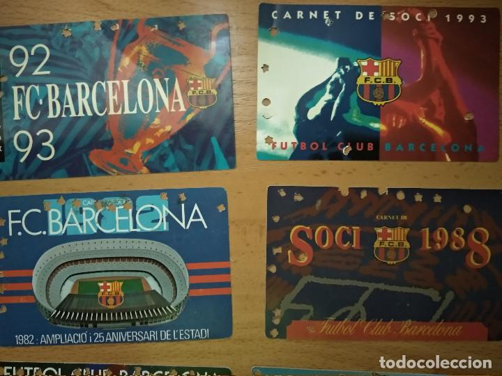Coleccionismo deportivo: Lote 16 Carnet Futbol Club Barcelona Barça 1974-75-76-77-78-79-82-84-85-87-88-89-90-91-92-93. Anual - Foto 4 - 147909522