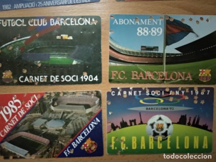 Coleccionismo deportivo: Lote 16 Carnet Futbol Club Barcelona Barça 1974-75-76-77-78-79-82-84-85-87-88-89-90-91-92-93. Anual - Foto 5 - 147909522