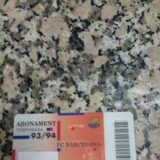 Coleccionismo deportivo: CARNET SOCI FC. BARCELONA .1993 - 1994. Lote 148074786