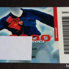 Coleccionismo deportivo: CARNET SOCIO SOCI TEMPORADA 2000 - FC BARCELONA - . Lote 148095370