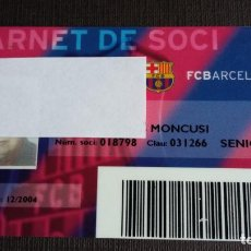 Coleccionismo deportivo: CARNET SOCIO SOCI TEMPORADA 2004 - FC BARCELONA - . Lote 148095658