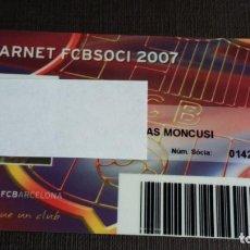 Coleccionismo deportivo: CARNET SOCIO SOCI TEMPORADA 2007 - FC BARCELONA - . Lote 148095962