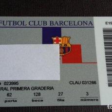 Coleccionismo deportivo: CARNET SOCIO SOCI ABONAMENT- FC BARCELONA - TEMPORADA 00 01 2000 2001 - LATERAL PRIMERA GRADERIA. Lote 148096494
