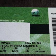 Coleccionismo deportivo: CARNET SOCIO SOCI ABONAMENT- FC BARCELONA - TEMPORADA 03 04 2003 2004 - LATERAL PRIMERA GRADERIA. Lote 148096674