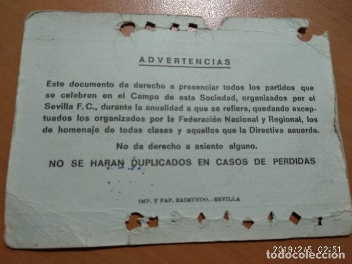 Coleccionismo deportivo: ANTIGUO CARNET DE SOCIO FUTBOL DEL SEVILLA F.C, TEMPORADA 1977-78, AFILIADO NORTE - Foto 3 - 150851178