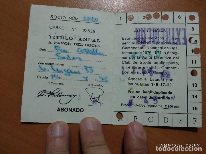 Coleccionismo deportivo: ANTIGUO CARNET DEL REAL BETIS BALOMPIE, TEMPORADA 1976-77, ABONADO - Foto 2 - 150851182